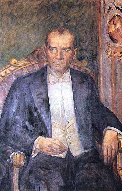 Gazi Mustafa Kemal Ataturk Yagli Boya Resimler Ibrahim Calli Turk Sanati Sanatsal Resimler Resim