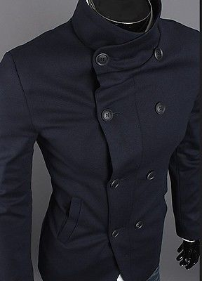 00c0259c9427 Mens Casual   Dress Short Double High Neck Blazer Suit Jackets Spring Coats  SALE