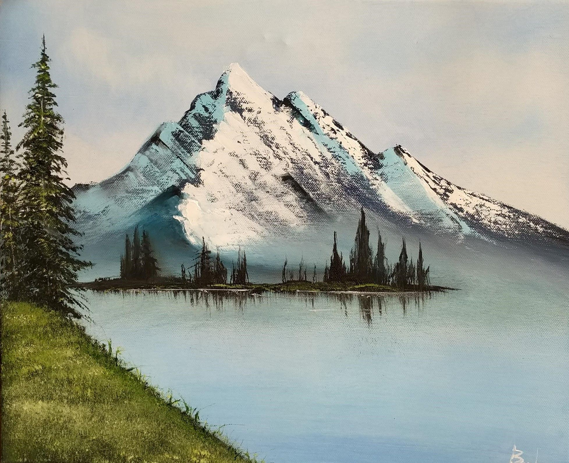 Unique And Heartfelt Mothers Day Gift Mountain Lake Oil Etsy Original Landscape Painting Landscape Paintings Landscape