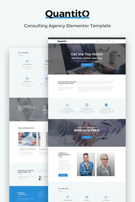 Quantito consulting agency elementor template small business quantito consulting agency elementor template small business ideas pinterest business website templates and business flashek