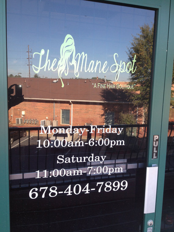 Business hours vinyl decal store hours window by ozavinylgraphics