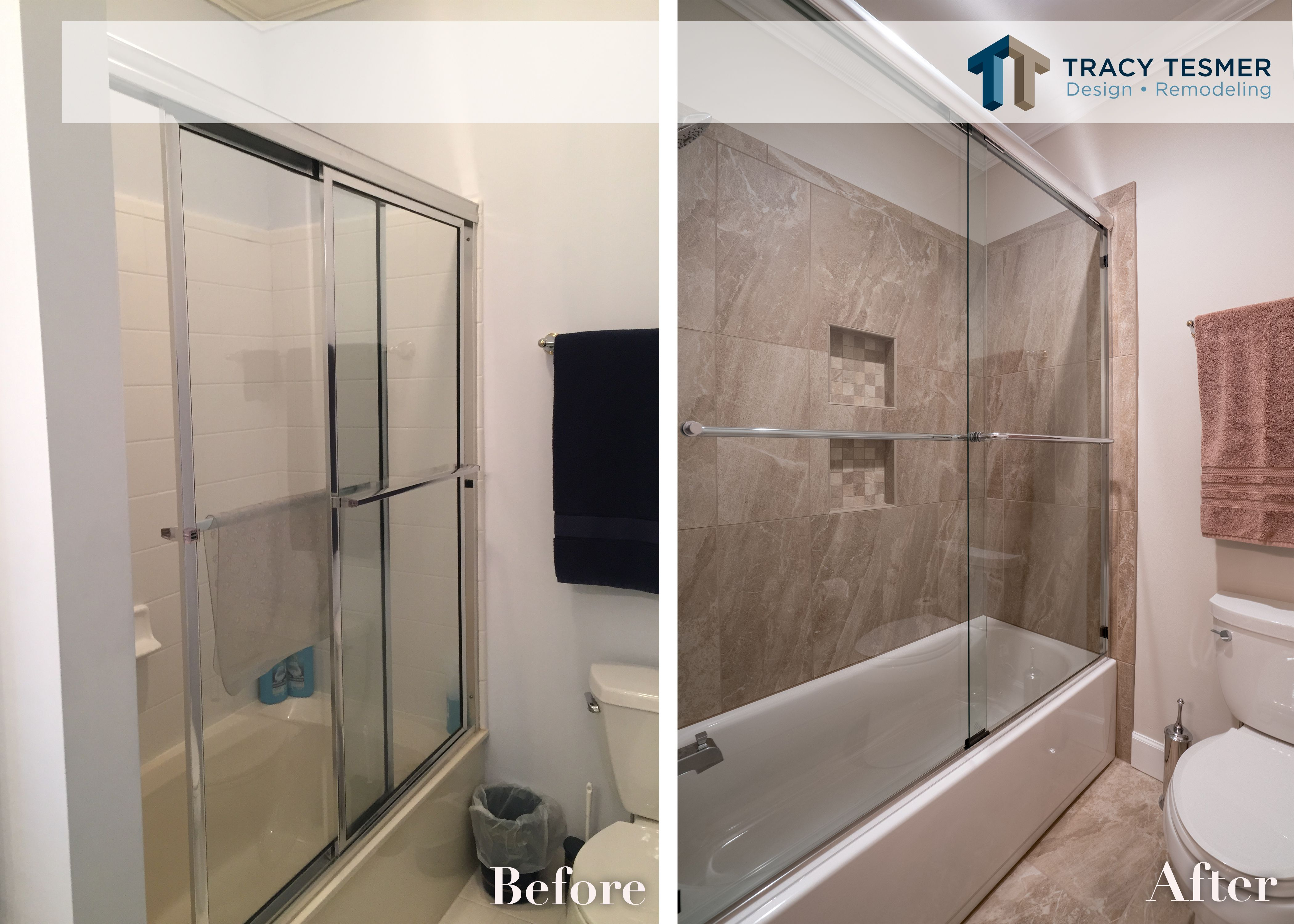 Guest Bathroom Remodeling Before And After Bathroom Mirror Design Bathroom Remodel Shower Trendy Bathroom Tiles