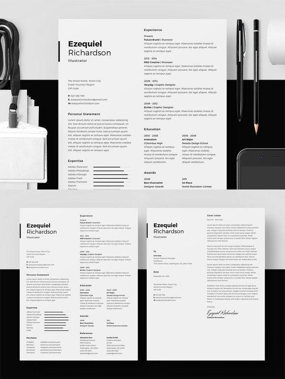 Resume/CV - Ezequiel Richardson Resume Templates Pinterest