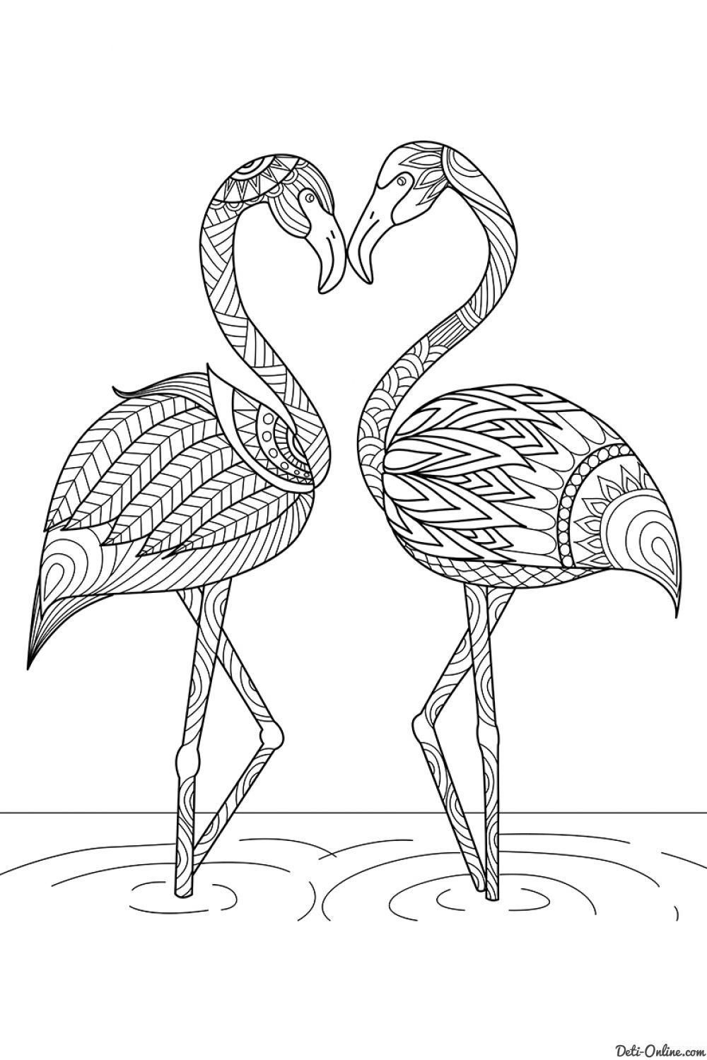 Antistress Bird Coloring Pages Animal Coloring Pages Flamingo Coloring Page