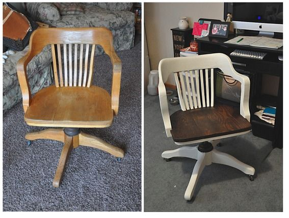 A Little Paint And Staining Help Revive This Old Office Chair