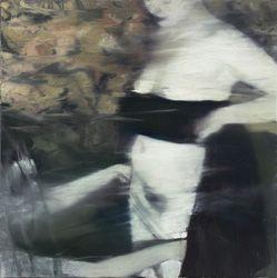"Tjeneste (2013) 24"" x 24"" / 60 x 60cm, eggoiltempera on canvas"