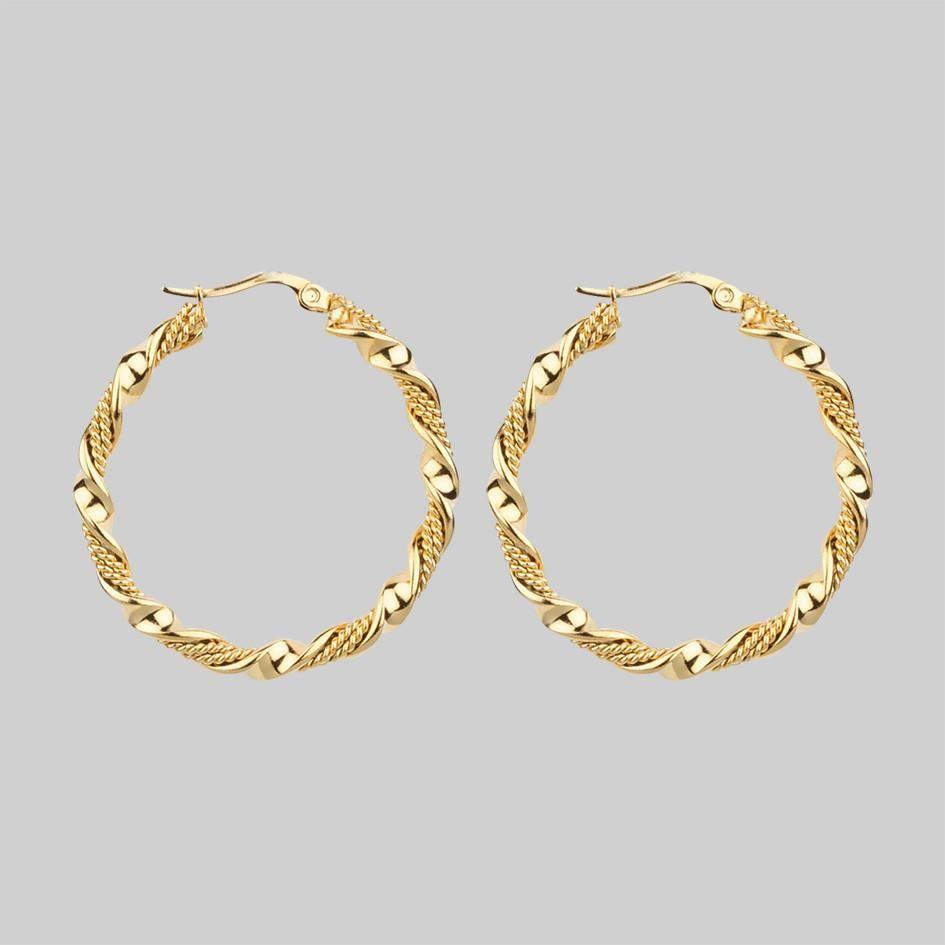 Kiera Twisted Gold Hoop Earrings In 2019 Wish List
