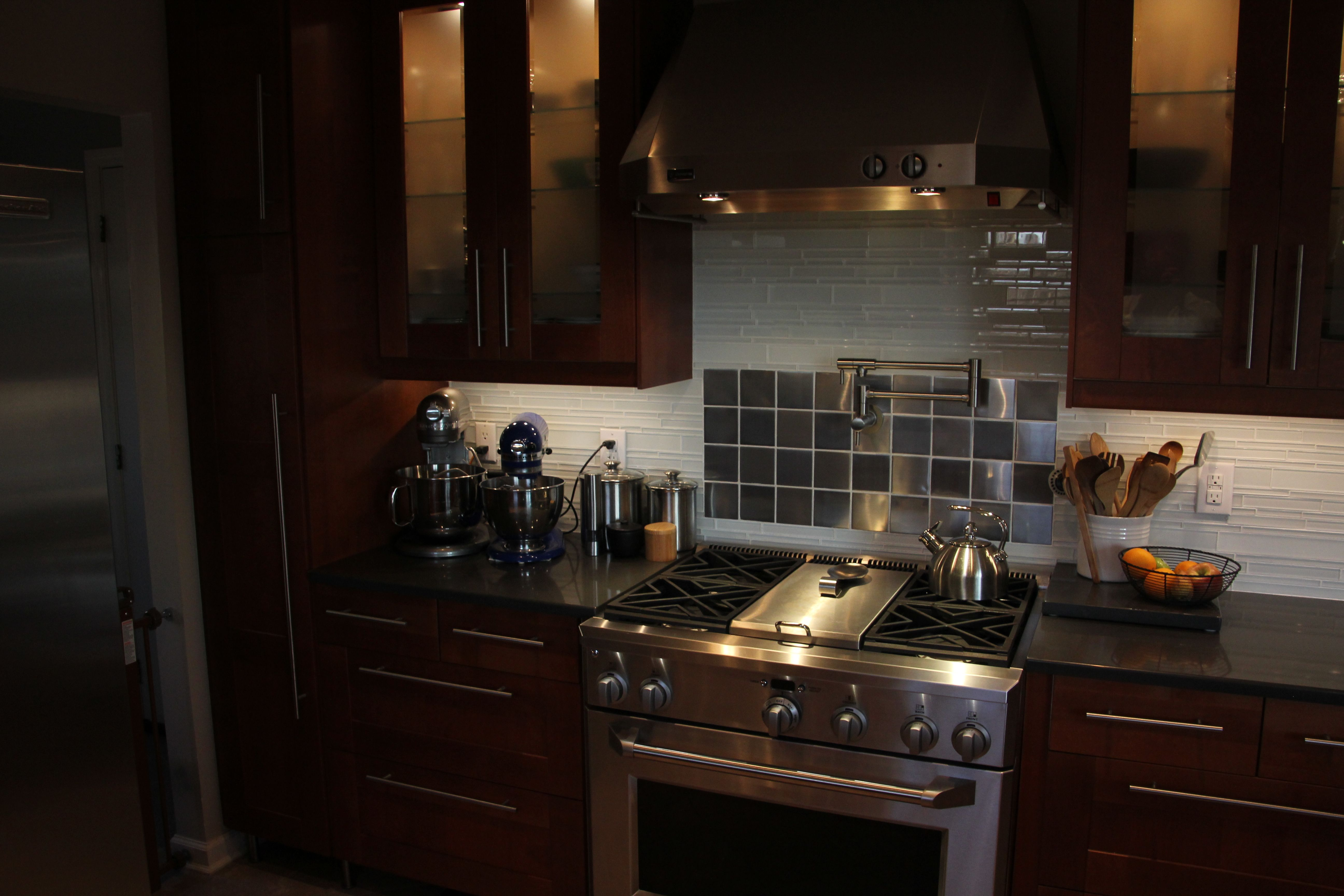Best Finished Kitchen Ikea Adel Medium Brown Cabinets Ge 400 x 300