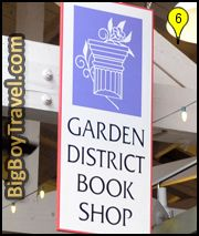 Garden District Walking Tour Map, New Orleans, The Rink Bookstore