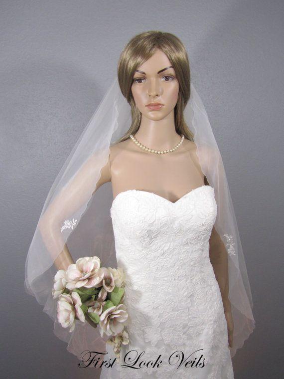 Ivory Wedding Veil Bridal Fingertip Vail Two Layered Vale Etsy Designer Veil Veils Bridal Fingertip Ivory Wedding Veils