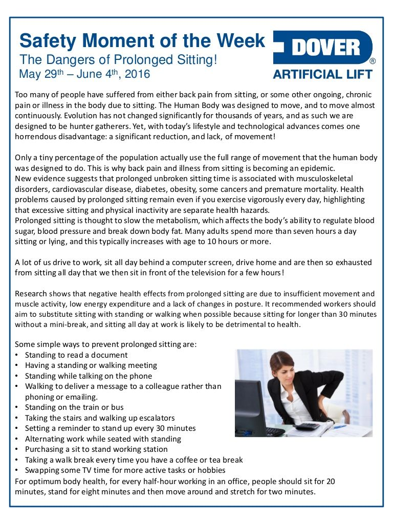 The Dangers of Prolonged Sitting! Alberta Oil Tool's