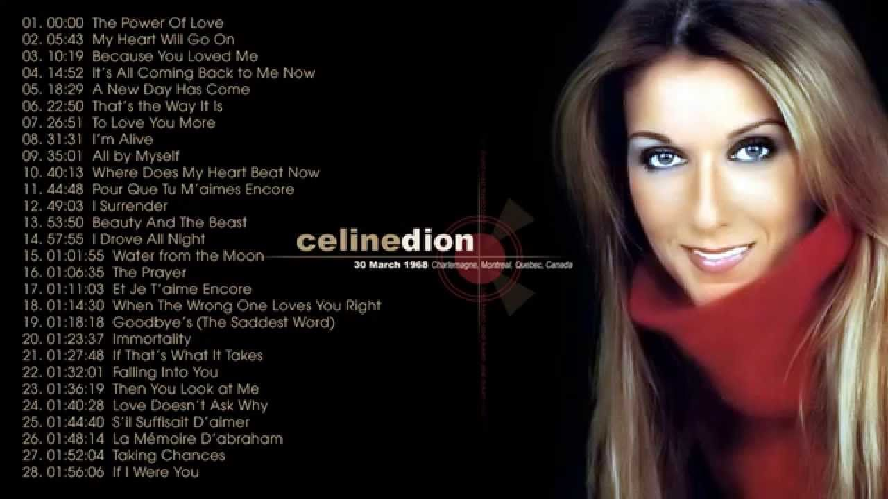 Celine Dion Greatest Hits Full Album Best Songs Of Celine Dion Celine Dion Greatest Hits Celine Dion Songs Celine Dion