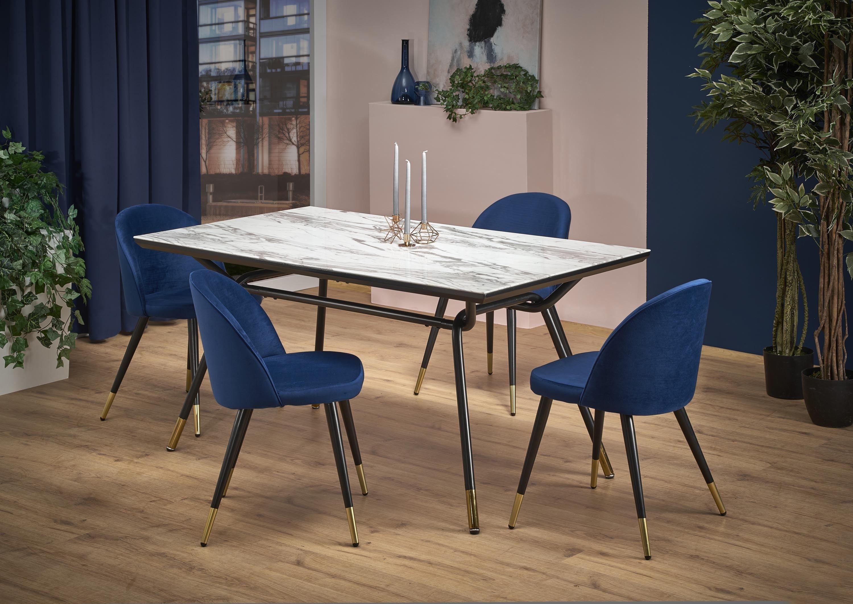 Gresham Shiny Marble Effect 6 Seater Dining Table 160cm Marble Dining Table Effect Rectangular Gresham Ro Dining Table Marble 6 Seater Dining Table Table