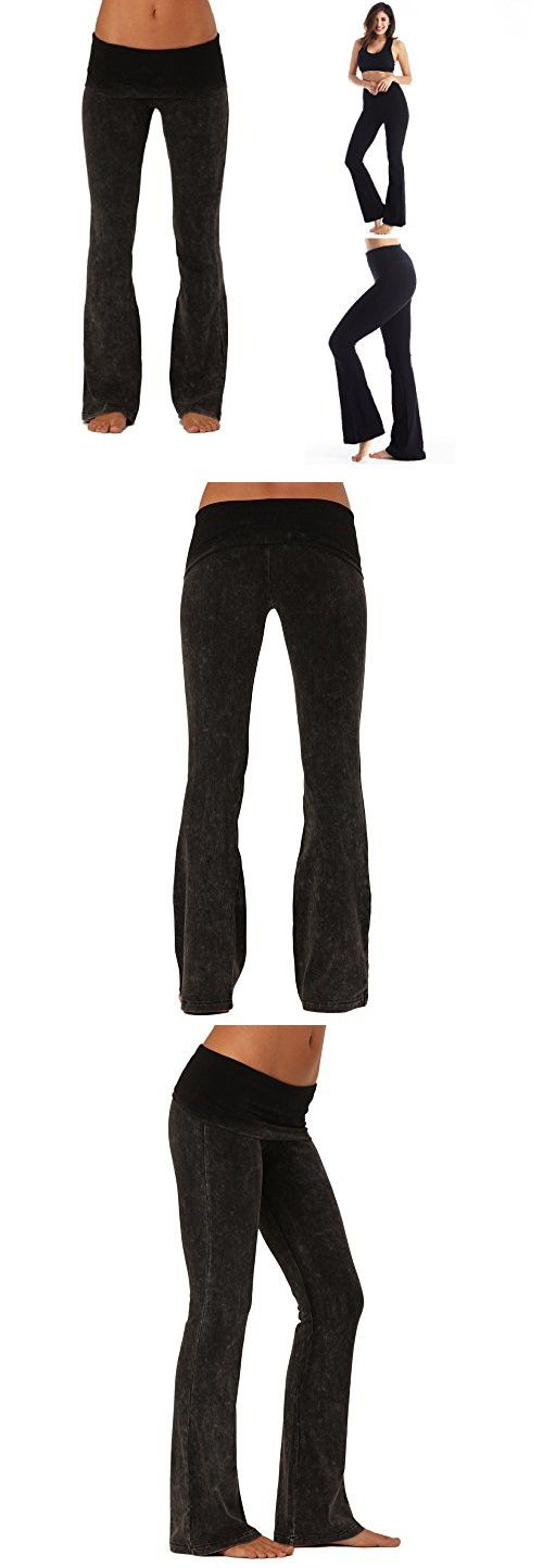 10414787759e17 Viosi Women s Premium 250gsm Fold Over Cotton Spandex Lounge Yoga Pants