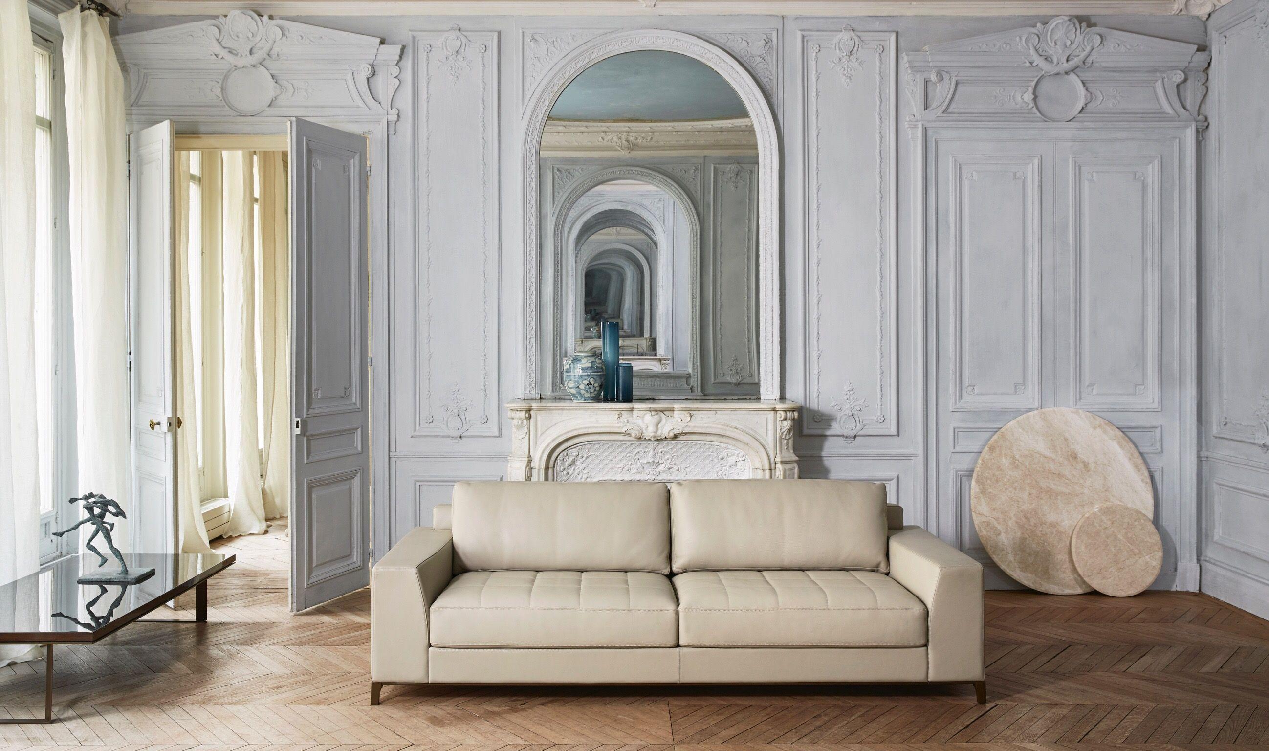 Paris Sofa With Metal Bronze Base From Hugueschevalier Canape Design Hugues Chevalier Mobilier Contemporain