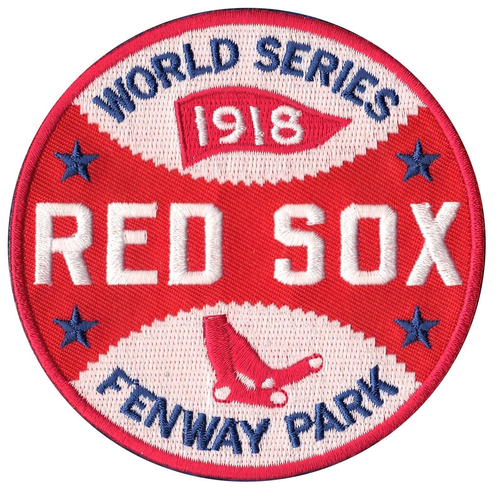 1918 Boston Red Sox Mlb World Series Team Champions Logo Jersey Sleeve Patch 813300010958 Ebay Boston Red Sox Logo Boston Red Sox Wallpaper Red Sox Wallpaper