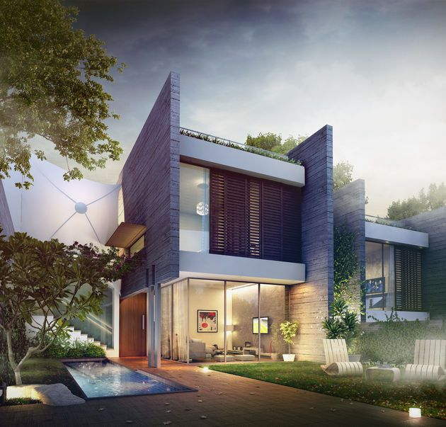 Modern Row House Plans: Professional 3D Architectural Visualization