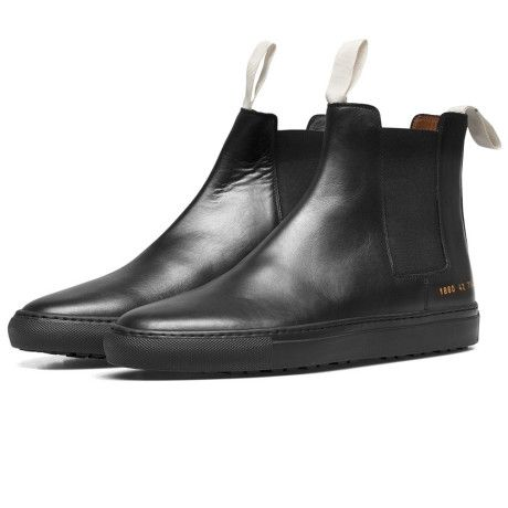 be1d364a205c Love this  Black Leather Trek Chelsea Boots  Lyst
