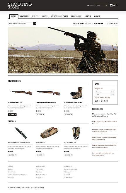 Shooting Store Prestashop Theme  Website Designs