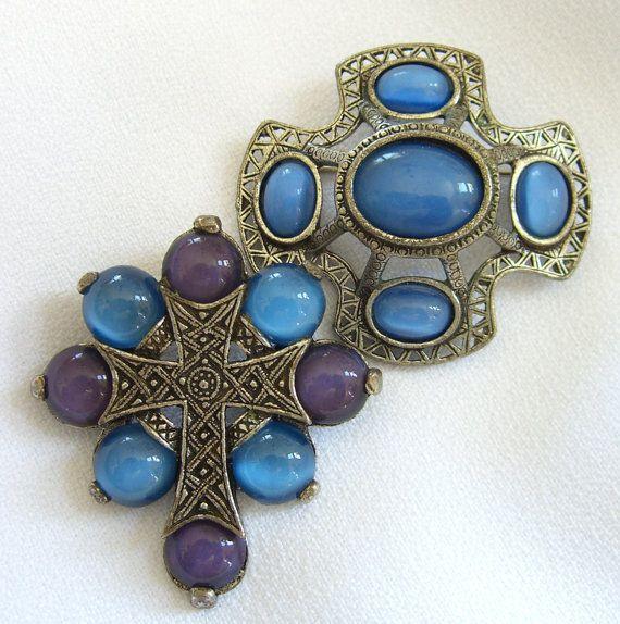 Vintage celtic pendants brooches signed miracle scottish agate style jewellery uk aloadofball Images