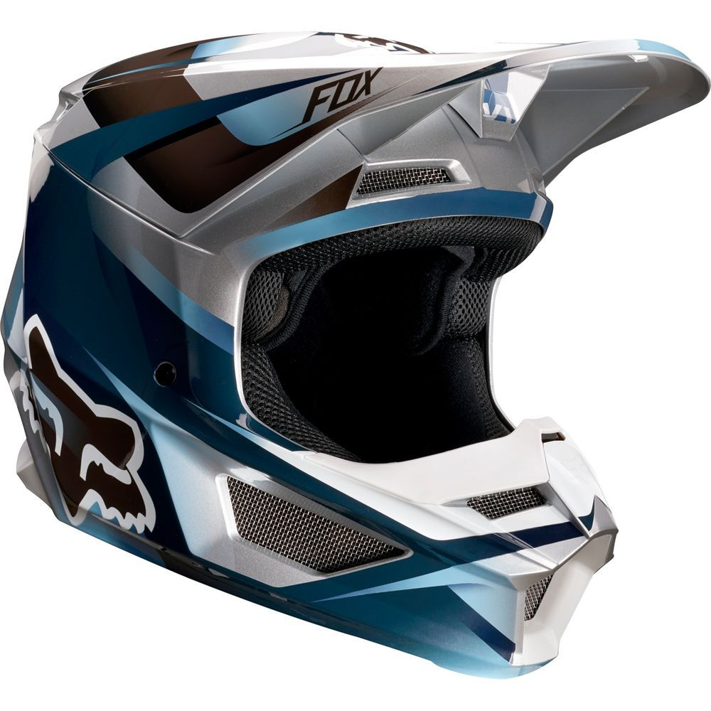 Yth V1 Motif Helmet Blu Gry S With Images Custom Bikes