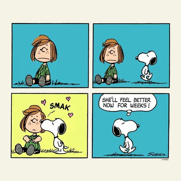 A Kiss Always Makes You Feel Better Snoopy Love Snoopy Comics