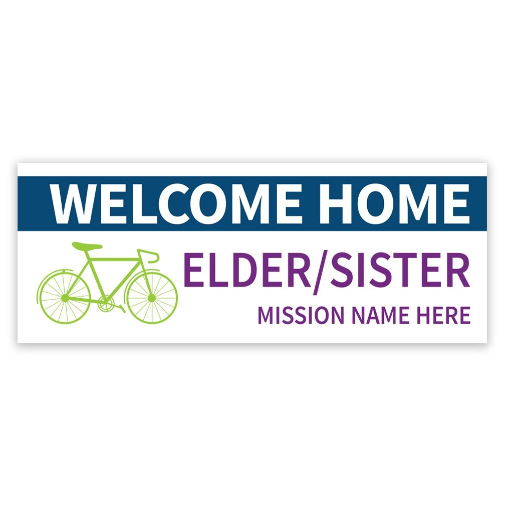 Bike Missionary Banner in Posters & Banners   LDSBookstore.com (#LDP ...