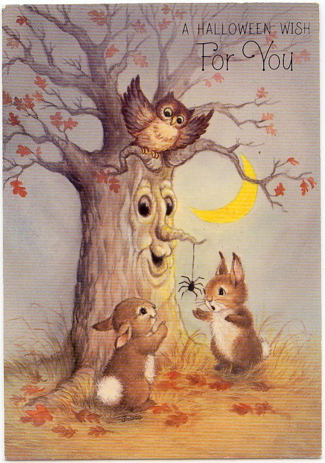 Image Result For Vintage Halloween Card