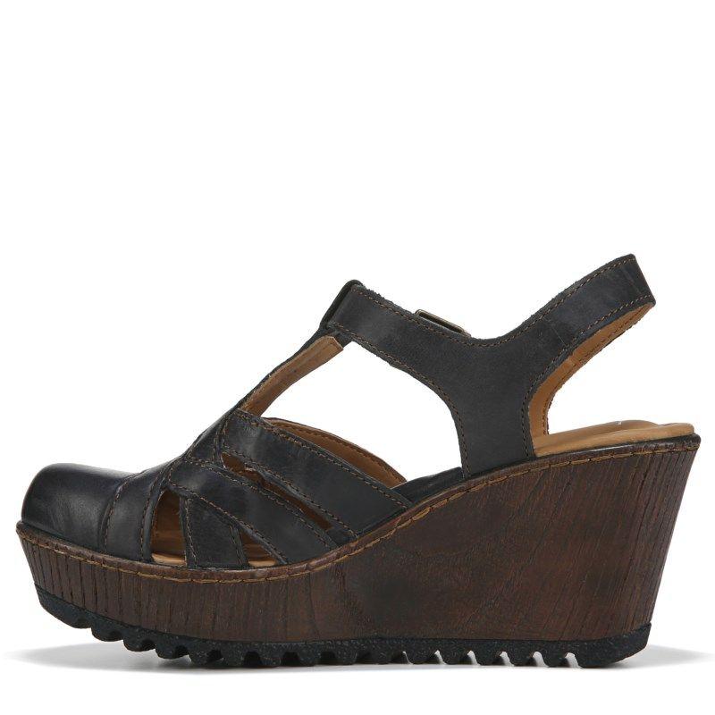 bbceffea70a6 B.O.C. Women s Lizzie Wedge Sandals (Black) in 2019
