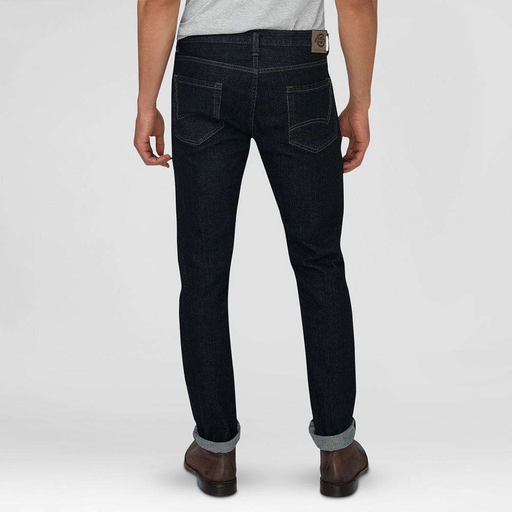 Dickies mens slim fit skinny leg 5pocket jean dark