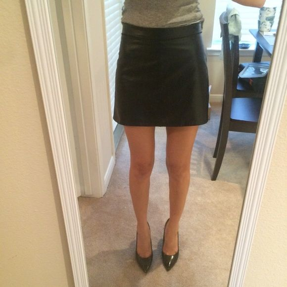 5b95096703 Mini leather skirt Such a cute leather skirt. Purchased from another app  called Depop but