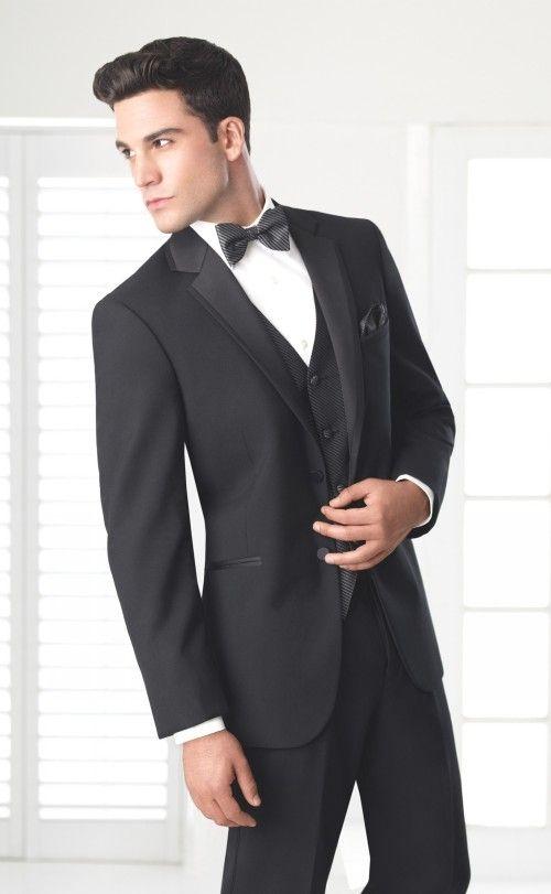 Fashionable Two Button Black Groom Tuxedos Groomsmen Mens Wedding Suits  Prom Bridegroom (Jacket+Pants+Vest+Tie) NO:1218   Suits & Blazers    Pinterest ...