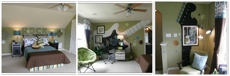 Un tema original para decorar la habitación de un adolescente ya que son todos amantes de la música.