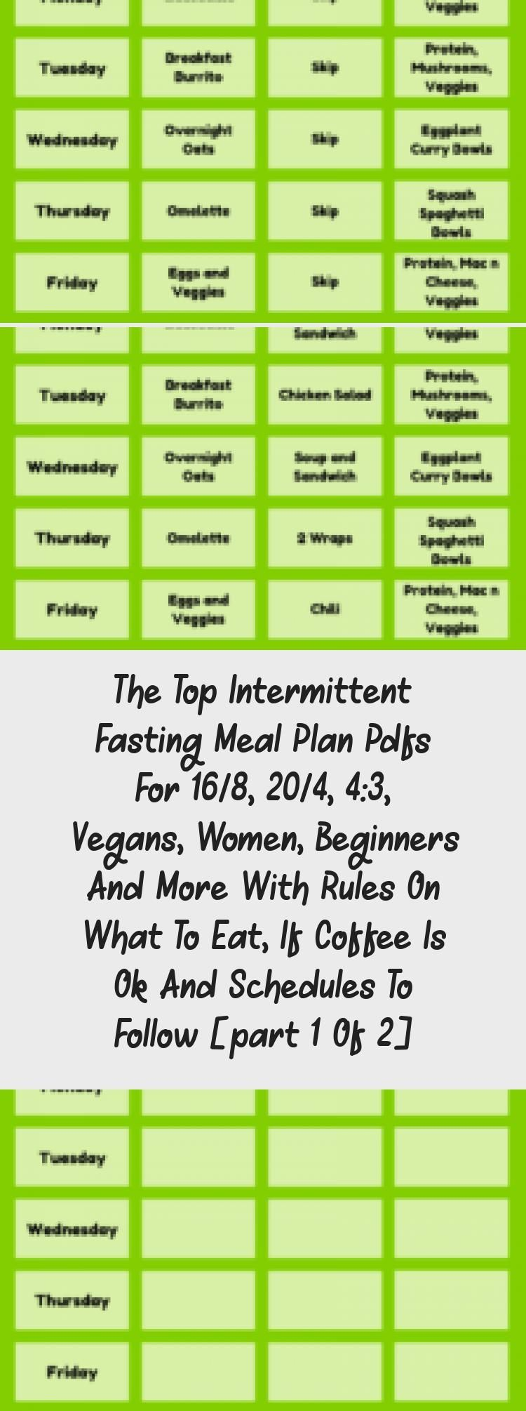 The Top Intermittent Fasting Meal Plan PDFs for 168 204 43 Vegans Women