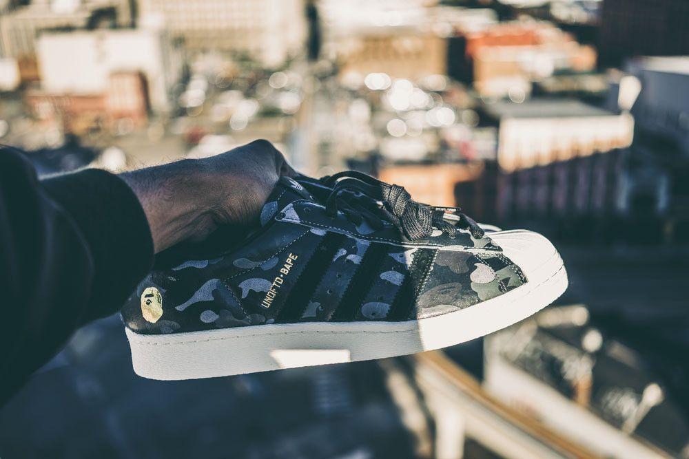Adidas Superstar Bape x Undefeated Black