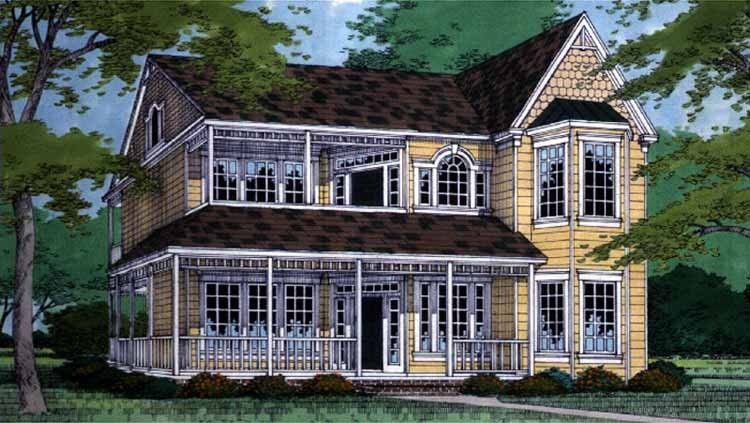 Eplans Queen Anne House Plan - Four Bedroom Queen Anne - 2752 Square Feet and 4 Bedrooms from Eplans - House Plan Code HWEPL58409