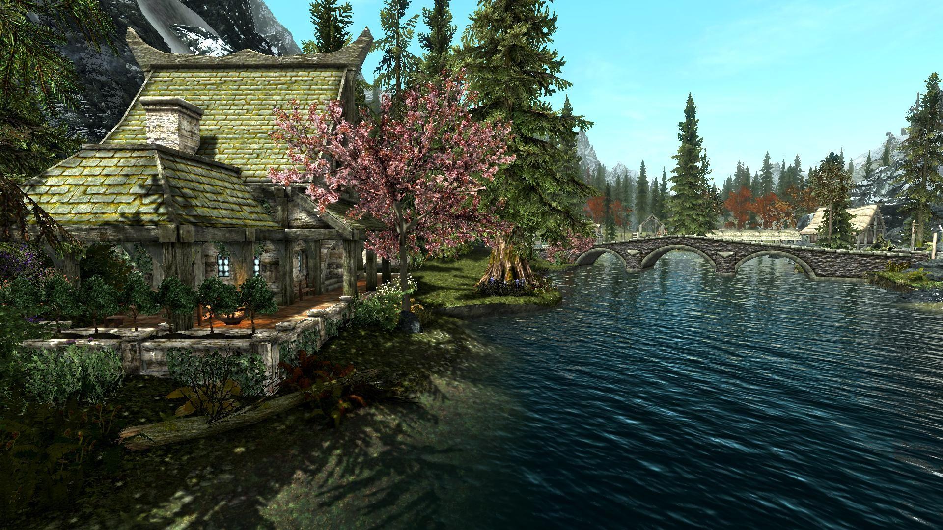 white river cottage at skyrim nexus mods and community skyrim