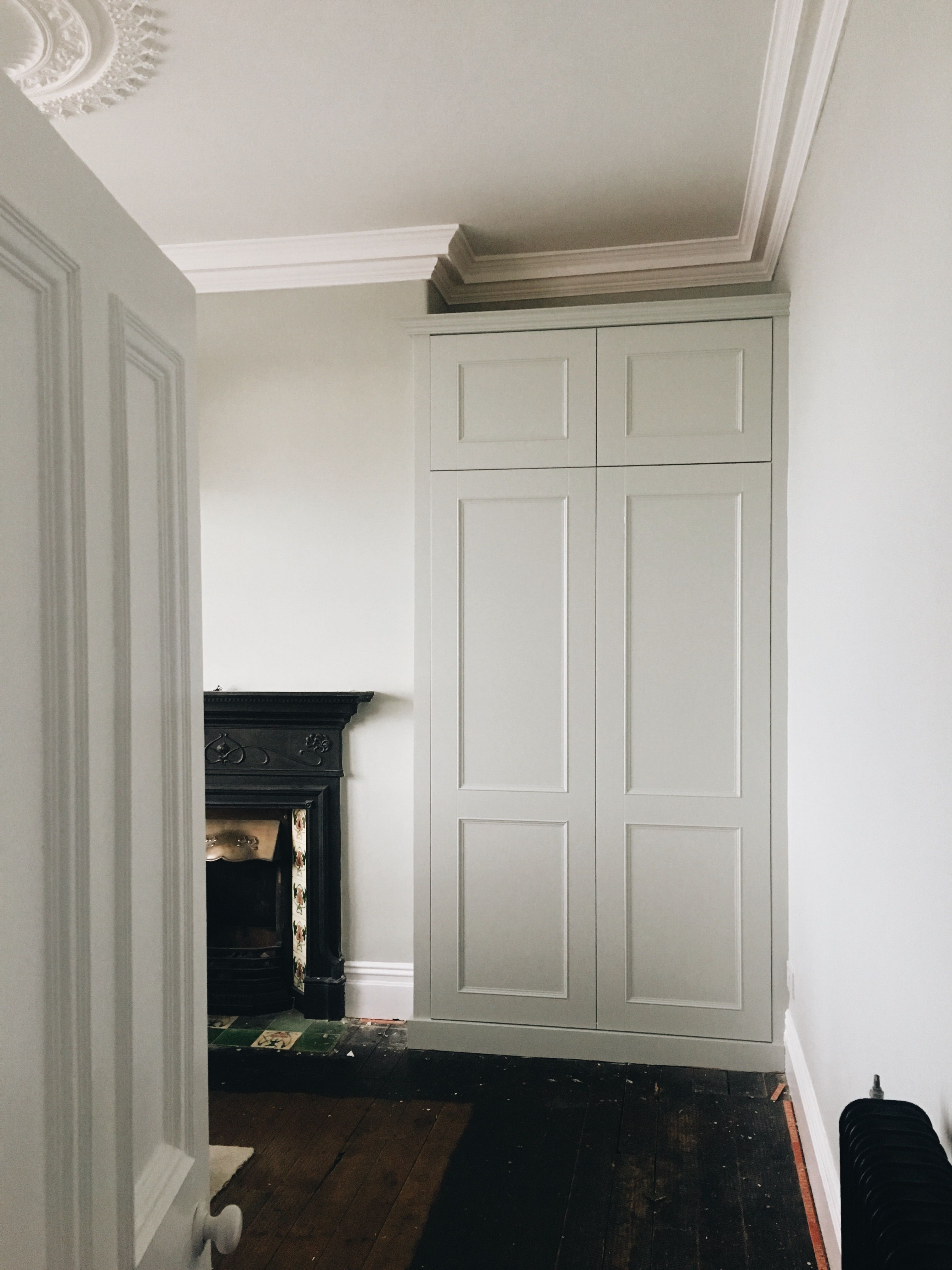 Best Fitted Wardrobe Painted In Farrow And Ball Cromarty 400 x 300