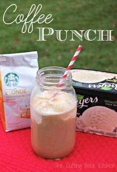 Coffee Punch is the perfect drink for your next shower or party. It's sweet and creamy with a light coffee flavor. A drink that is sure to please.