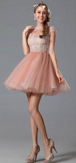 USD 154.89] eDressit Lace Applique Pink Cocktail Dress Party Dress ...