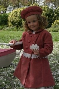 Cherub Child Traditional Vintage Style Girls Coat, Toddler Girls Coat, with Matching Hat, Coat and Beret,