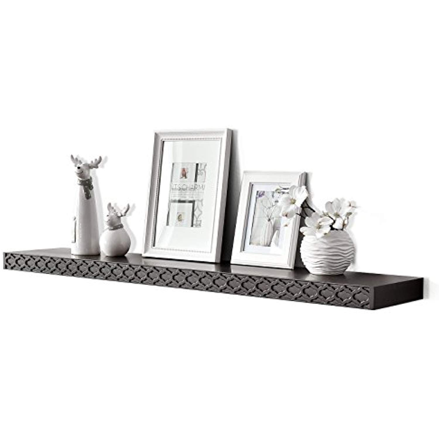 Welland 36 Inch Pattern Floating Shelf Picture Ledge Shelves Wall Shelf 2 Thickness Espresso Learn More By Vis Floating Shelves Shelves Picture Ledge Shelf