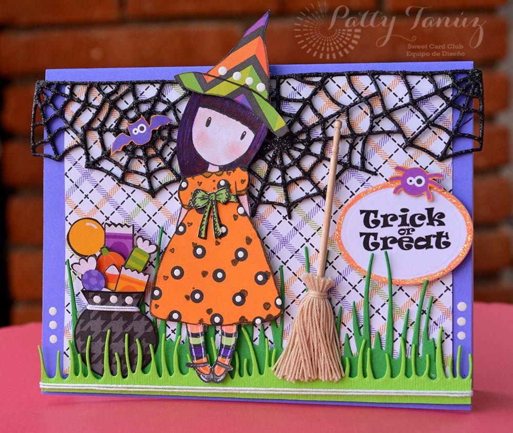 Cards by Patty Tanúz: DT SWEET CARD CLUB: RETO UNA BRUJITA EN TU TARJETA!!!!!!!!