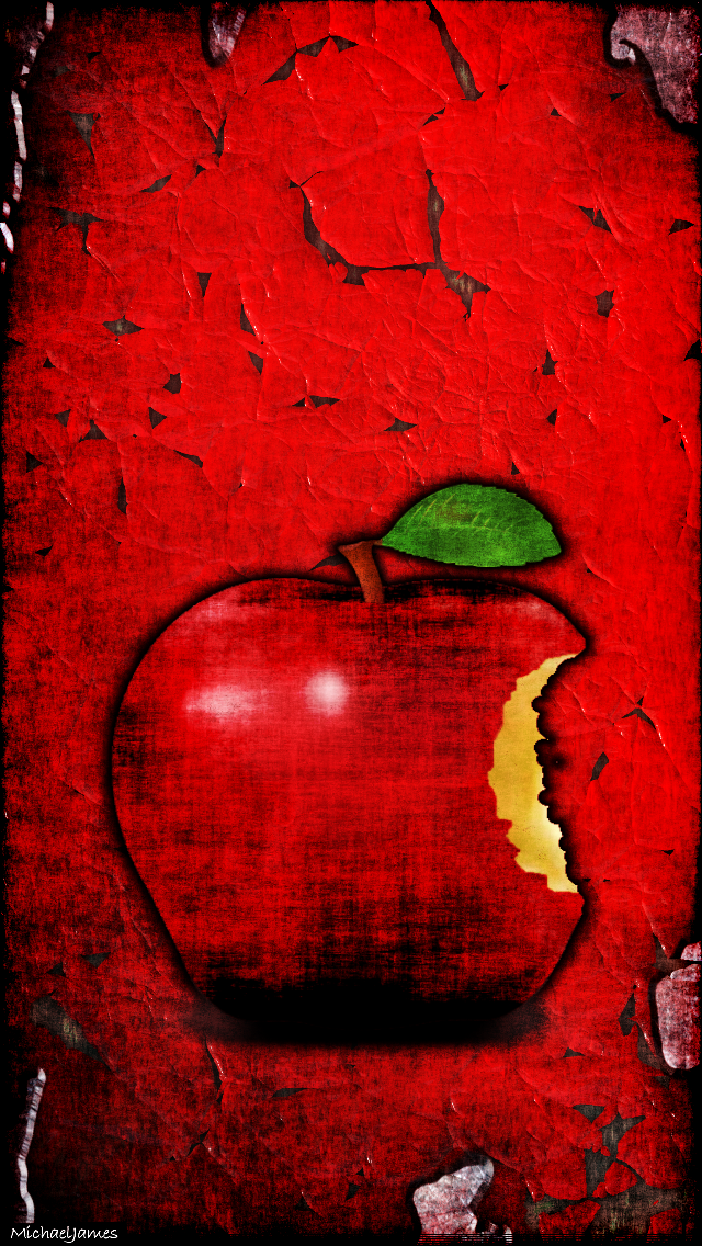 Grungy Red Apple Apple Iphone 5s Hd Wallpapers Available For Free