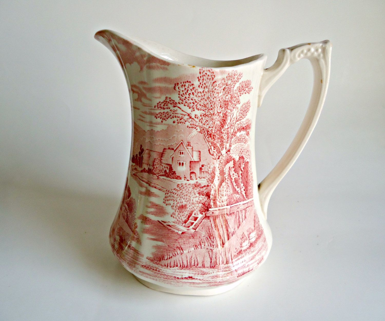Vintage alfred meakin pitcher tintern pattern jug 1930s by shelves reviewsmspy