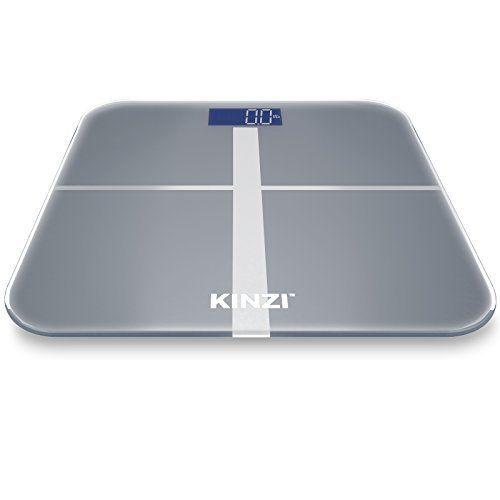 Kinzi Precision Digital Bathroom Scale W Extra Large Lighted Display 400 Lb Capacity