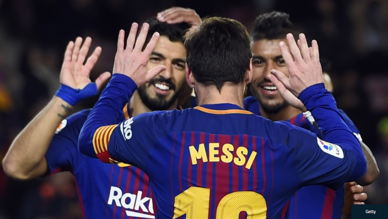 Real Sociedad 2 4 Barcelona Luis Suarez Scores Twice In Comeback Win Luis Suarez Scored Twice As Barcelona Battled Back From A 2 0 Def Messi Phil Luis Suarez