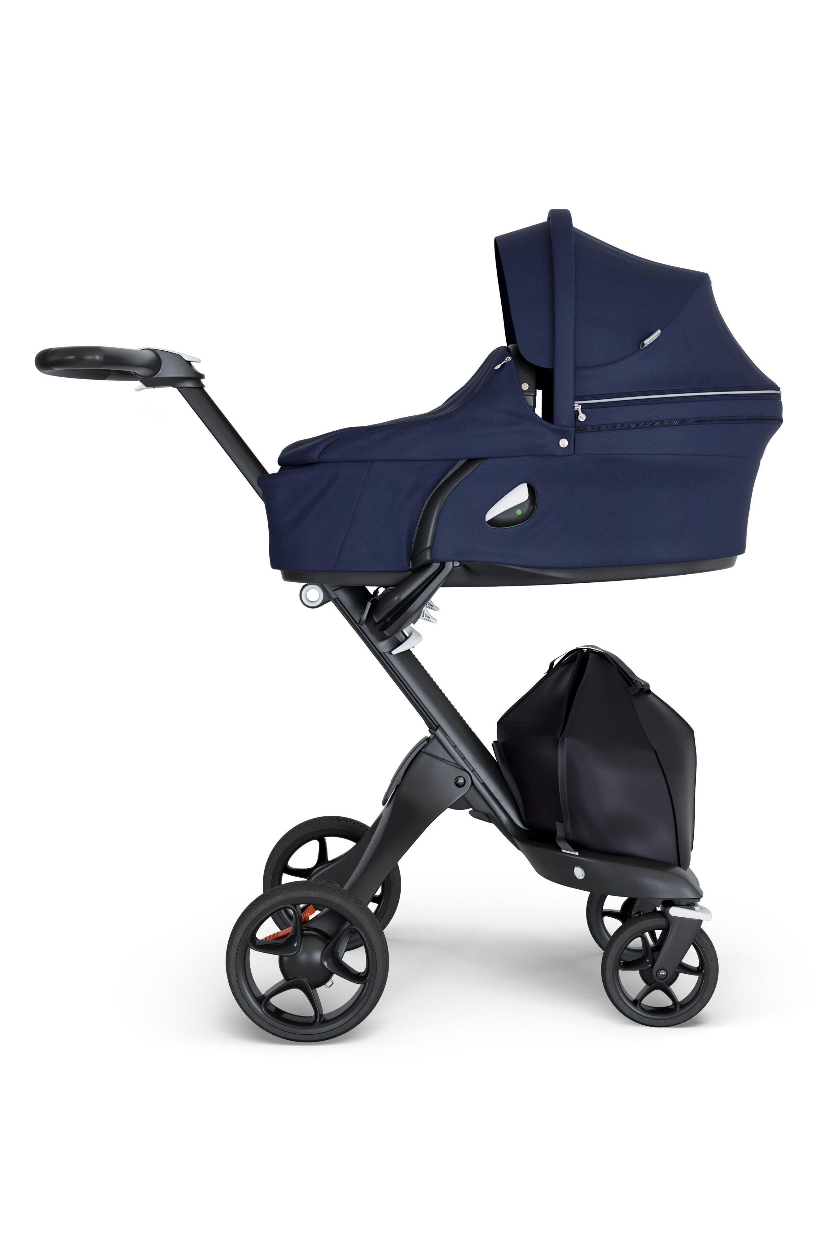Stokke Xplory V6 Black Carry Cot Deep Blue