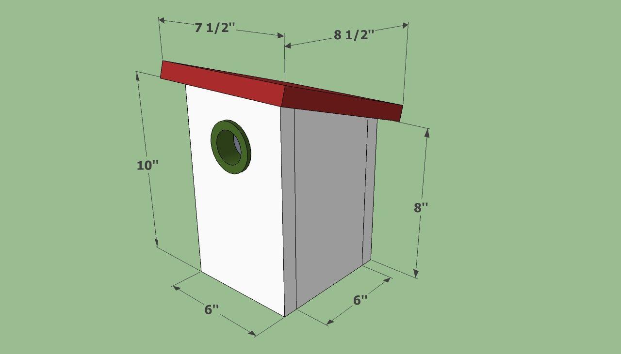 Simple bird house plans diy birdhouses pinterest for Birdhouse project