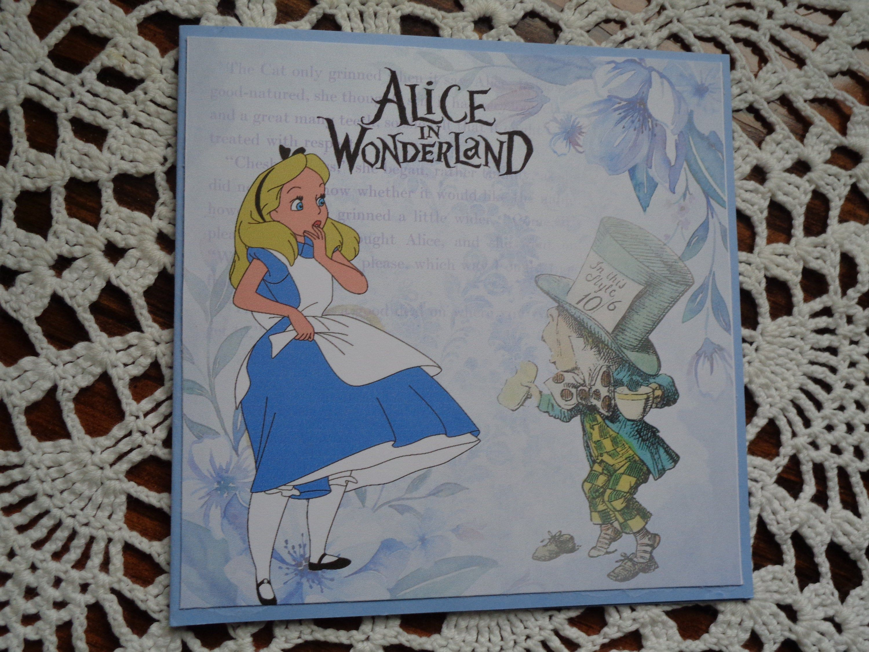Alice In Wonderland Card Birthday Card Mad Hatter For Etsy Birthday Cards Birthday Greetings Princess Card